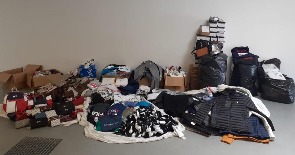 Material contrafeito no valor de 13 mil euros apreendido em Fafe