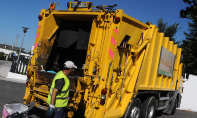 camiao lixo recolha lixo residuos